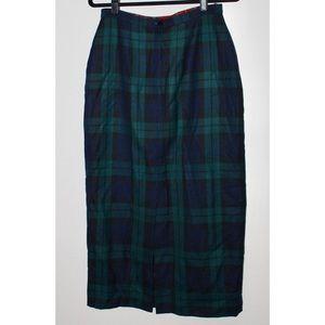 Tommy Hilfiger Skirts - Tommy Hilfiger Wool Plaid Midi Pencil Skirt